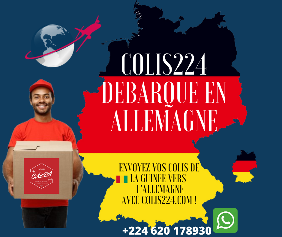 Envoyez colis en Allemagne envois de colis Guinee Allemagne